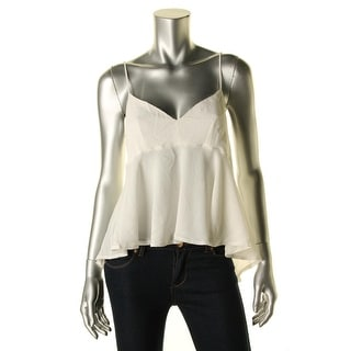 Zara W&B Collection Womens Textured Sheer Blouse - M