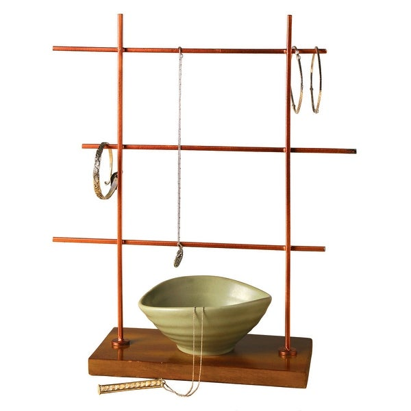 Zen Jewelry Stand - 3-Tier Asian Inspired Organizer with Bowl