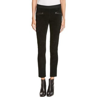 Blank NYC Womens Skinny Pants Suede Two Tone