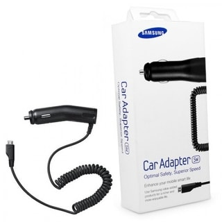 Samsung 5W Micro USB Car Charger for S5,S4,S3, Note 2-Retail Packing