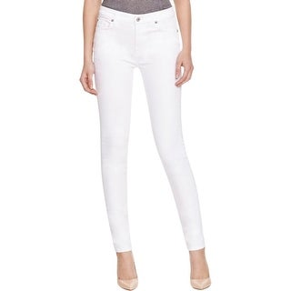 7 For All Mankind Womens The Skinny Skinny Jeans Denim Low-Rise