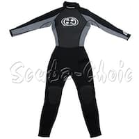 Maui & Sons 3/2 mm Boy's Neoprene Long Sleeve Surfing Suit Black/Gray