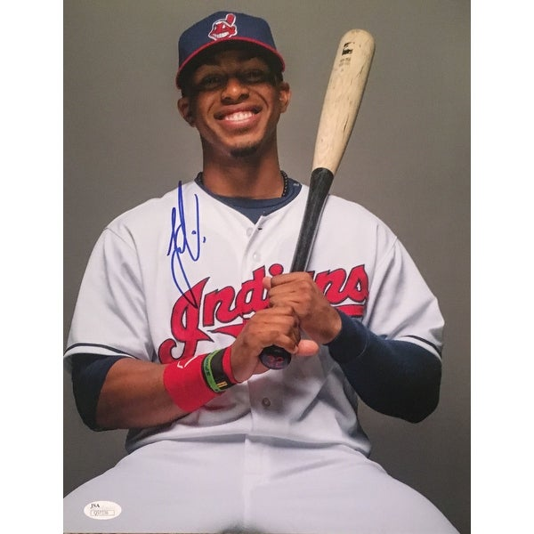 Shop Francisco Lindor Autographed Indians Signed Baseball 11x14 Photo JSA  COA - Free Shipping Today - Overstock - 13481204 2f0ac64da229