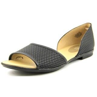 Easy Spirit e360 Kalindi Women Open-Toe Synthetic Black Flats