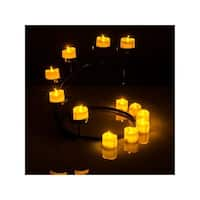 AGPtek Flickering Lot 6 PCS LED Flameless Battery Operated Tea light Tealight Candles with Batteries