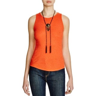 Free People Womens Muscle Tank Ribbed Solid