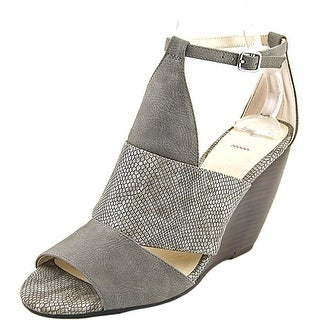 BC Footwear Glow Women  Open Toe Synthetic Gray Wedge Sandal