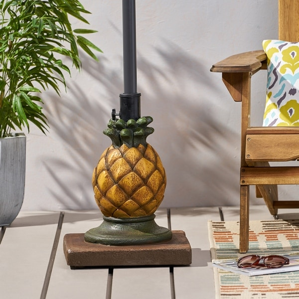 """Ferrer Pineapple Umbrella Base by Christopher Knight Home - 14.00"""" W x 14.00"""" L x 18.00"""" H. Opens flyout."""