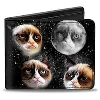 Grumpy Cat Moon Faces Bi Fold Wallet - One Size Fits most