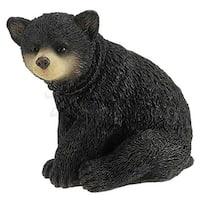 Sitting Black Bear Cub Hanging Christmas Tree Ornaments