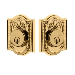 "Nostalgic Warehouse MEAMEA_2CYL_238_NA Meadows Solid Brass Double Cylinder Deadbolt with 2-3/8"" Backset"