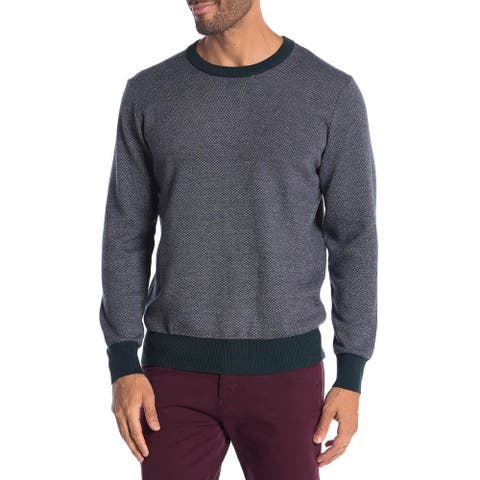 TailorByrd Mens Frido Birdseye Crew-Neck Sweater X-Large Elm XL