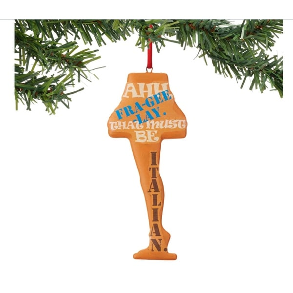 "Department 56 A Christmas Story ""Fra-Gee-Lay Leg Lamp Sentiment"" Christmas Ornament #4044992"
