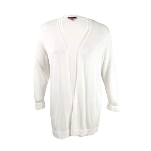 Vince Camuto Women's Open-Front Illusion Cardigan (XL, New Ivory) - New Ivory - XL