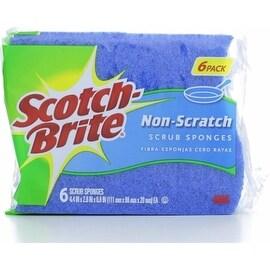 Scotch-Brite Non-Scratch Multi-Purpose Scrub Sponge 6 ea