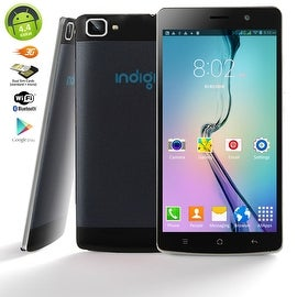 "Indigi® V19 Factory Unlocked 3G GSM+CDMA 5.5"" HD Android 4.4 KitKat Dual-Sim & Dual-Core Smartphone (Black)"