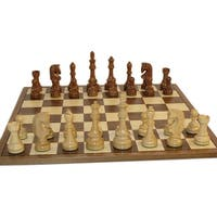 Traditional Russian Sheesham Chess set with Walnut / Maple Board - Multicolored