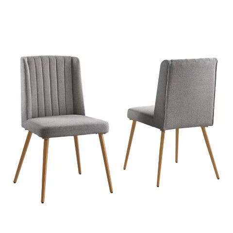 Morden Fort Classic Traditional Luxury Dinning Chair Set of 2 Contemporary Chenille Fabric Upholstered Side Chairs - N/A
