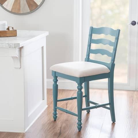 Linon Mason Antique Blue Counter Stool