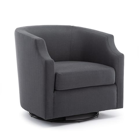 Cayden Swivel Barrel Glider Chair by Greyson Living