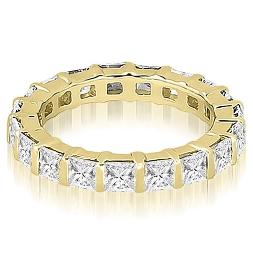 3.25 cttw. 14K Yellow Gold Princess Diamond Eternity Ring