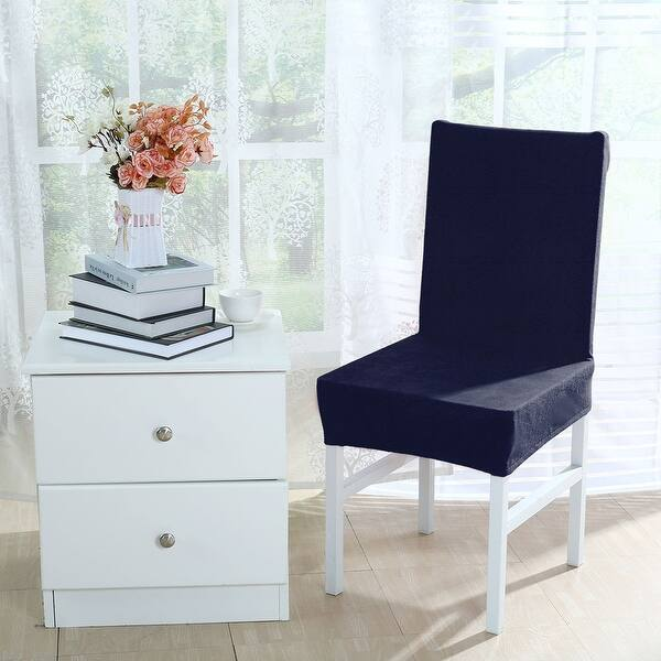 Shop Stretch Thicken Plush Short Dining Room Chair Covers ...