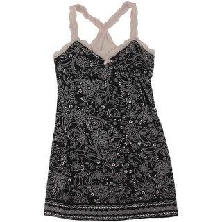 P.J. Salvage Womens Modal Lace Trim Nightie - S