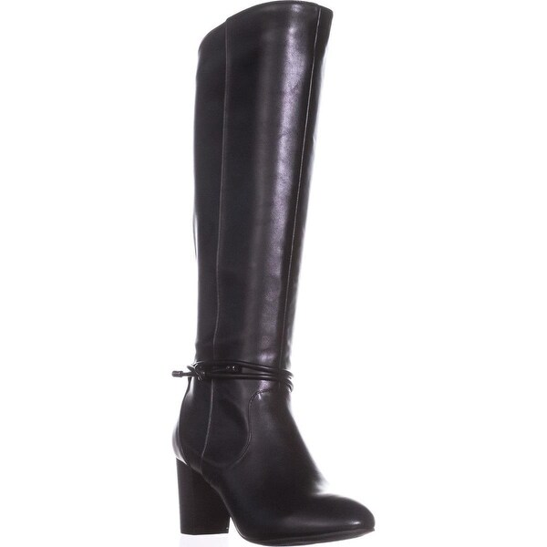 A35 Giliann Wide Calf Knee High Boots, Black - 6.5 us