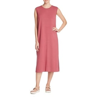 Eileen Fisher Womens Casual Dress Round Neck Petite - ps/pp