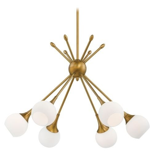 Kovacs P1806-248 6 Light 1 Tier Chandelier in Honey Gold from the Pontil Collection