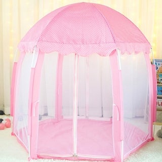 Kids Portable Hexagonal Princess Castle Play Tent Game Toy House