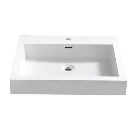 "Fresca Alto 23"" White Integrated Sink / Countertop"