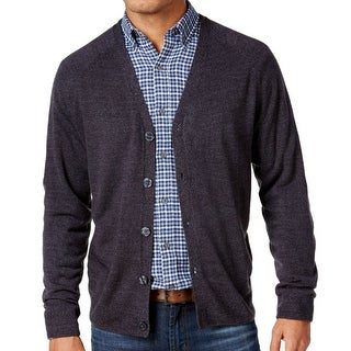 Weatherproof NEW Blue Mens XL Soft-Touch Marled Knit Cardigan Sweater