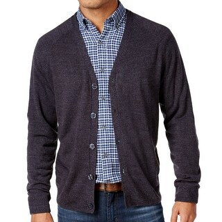 Weatherproof NEW Charcoal Gray Men Size 3XL Button-Down Cardigan Sweater