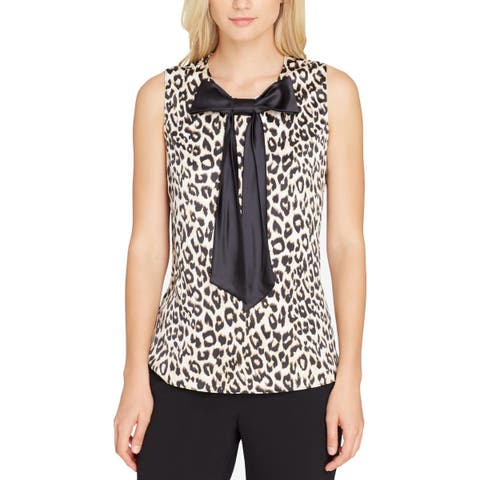 Tahari Womens Blouse Work Wear Office