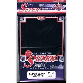 KMC Sleeves S1010 Deck Protectors Super Black, Pack - 80