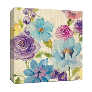 """PTM Images 9-147463  PTM Canvas Collection 12"""" x 12"""" - """"Flower Medley II"""" Giclee Flowers Art Print on Canvas"""