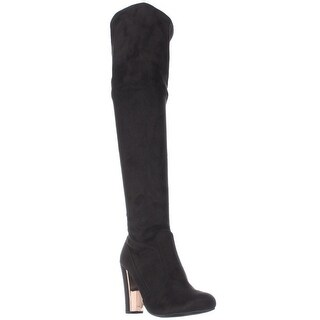 MG35 Priyanka Back Lace Over The Knee Boots, Black (3 options available)