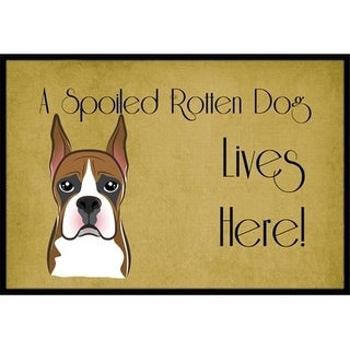 Carolines Treasures BB1471MAT Boxer Spoiled Dog Lives Here Indoor & Outdoor Mat 18 x 27 in.