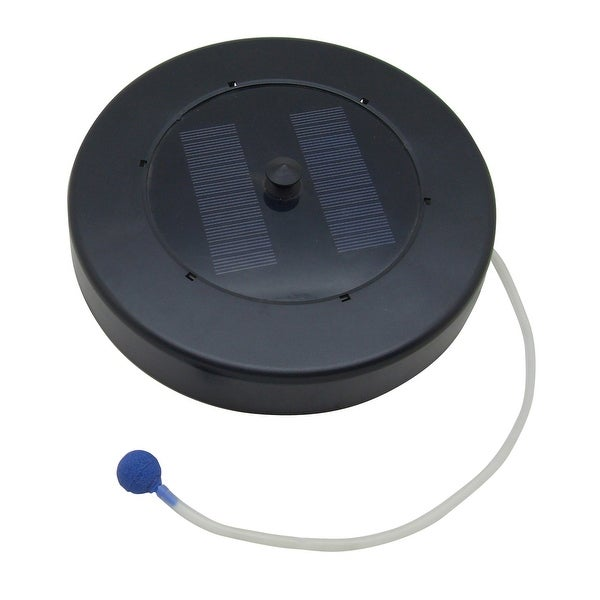 Sunnydaze Solar Floating Pond Oxygenator Oxygen Air Pump with Air Stone - Black