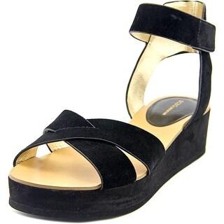 BCBGeneration Fabelle Women  Open Toe Suede Black Sandals