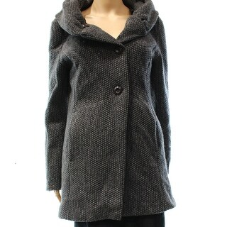 Designer Brand NEW Gray Women's Size Small S Hooded Wool Blend Coat