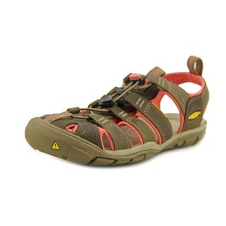 Keen Clearwater CNX Women Open-Toe Leather Tan Sport Sandal
