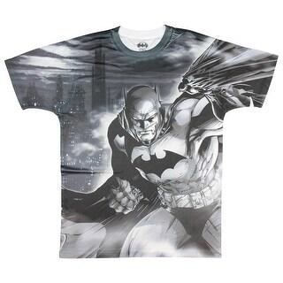 Batman Grey Allover Mens Sublimation Polyester Shirt