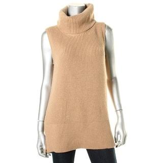 BOSS Hugo Boss Womens Farbola Wool Ribbed Turtleneck Sweater