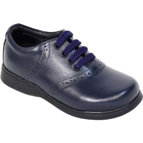 Schoolmates Girls' SM512 Casual Shoe - Preschool Navy Leather