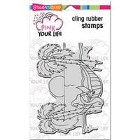 """Whisper Friends - Hammock - Stampendous Pink Your Life Cling Stamp 7.75""""X4.5"""""""