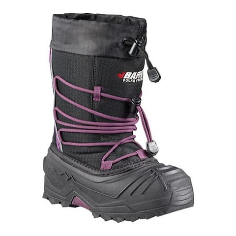 Baffin Children's Young Snogoose Snow Boot Black/Plum