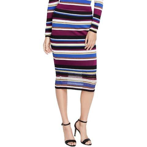 Rachel Roy Womens Striped Sweater Pencil Skirt