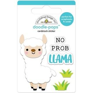 Doodlebug Doodle-Pops 3D Stickers-No Prob-Llama